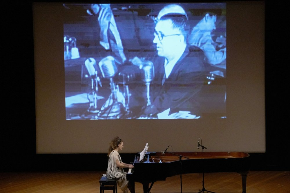 Sonya Lifschitz performing Stalin's Piano at the Canberra International Music Festival. Photos © Peter Hislop