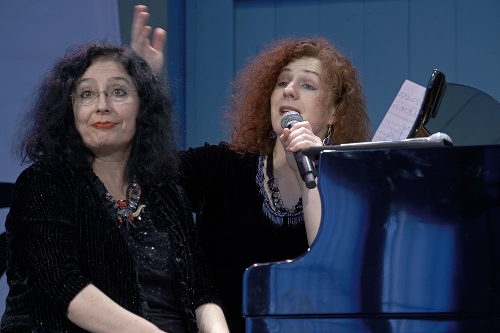 Elena Kats-Chernin, left, and Tamara-Anna Cislowska. Photo by Peter Hislop