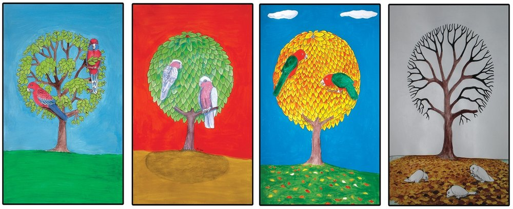 Canberra Seasons artwork - courtesy of artist Mick Ashley