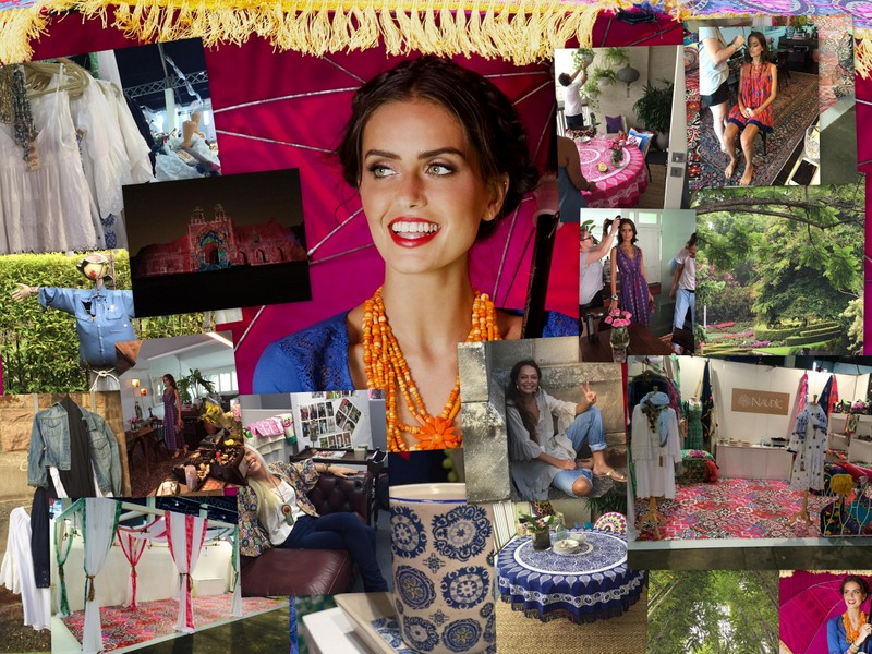 A peek at what is to come in our Spring range: Stunning Talia Richman as our lookbook model, lovely Paula Walden showing off our new Vintage by Naudic range and some snaps of our fun trade show stall.