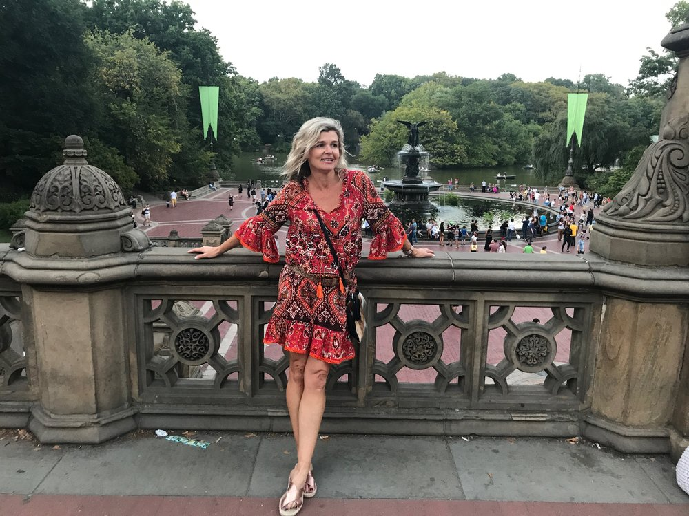 Taking a breather in Central Park