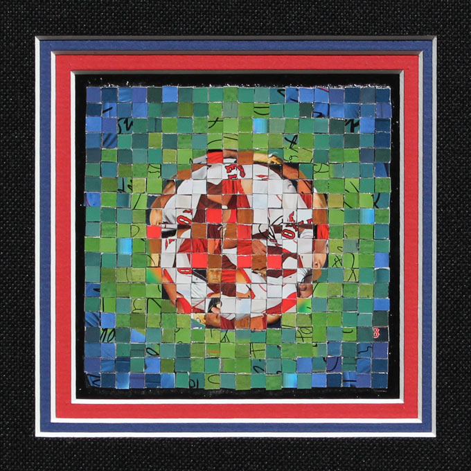 "Boston Red Sox Logo - 2007 Topps Series 1 - (� The Topps Company, Inc.) - 2012 - 4"" x 4"", .5 cm tiles"