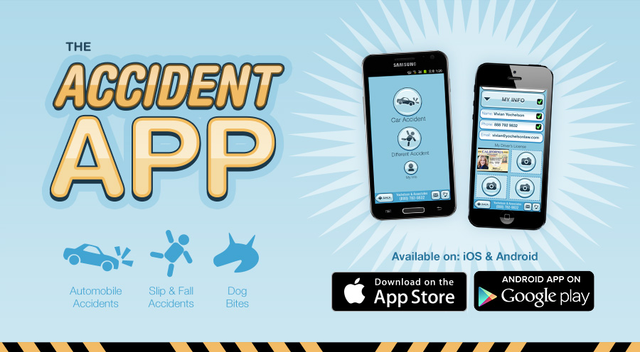 The Accident App - Producer, Creative Director, UI/UX Designer, Graphic Designer - App available on Android & iOS - (Yochelson & Associates) 2014