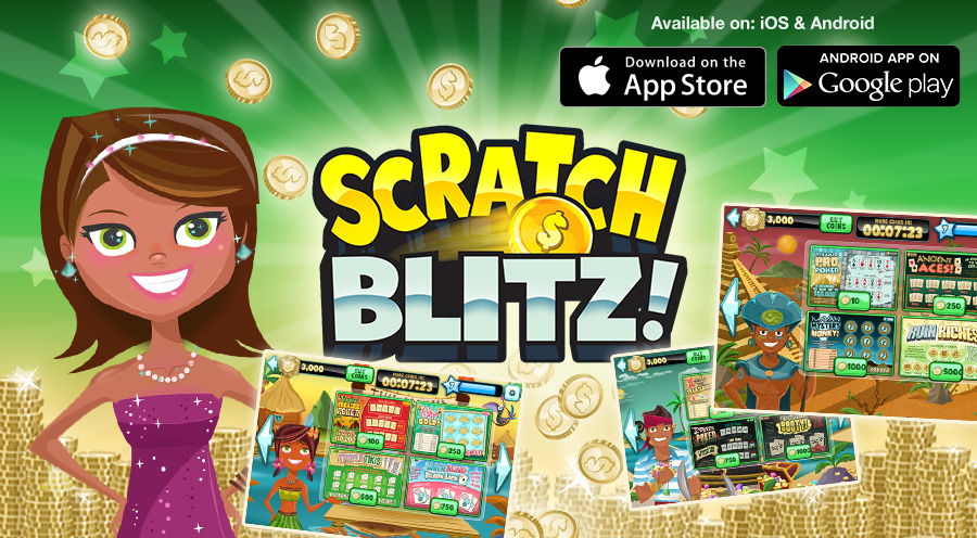 Scratch Blitz, Art Director, UI/UX Designer, Graphic Designer & Effects Animator, (© SGN) - 2013
