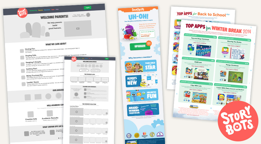 StoryBots - Part Time Consultant: UX Designer & Graphic Designer - ( ©1999–2014 JibJab Media Inc.)  - 2014