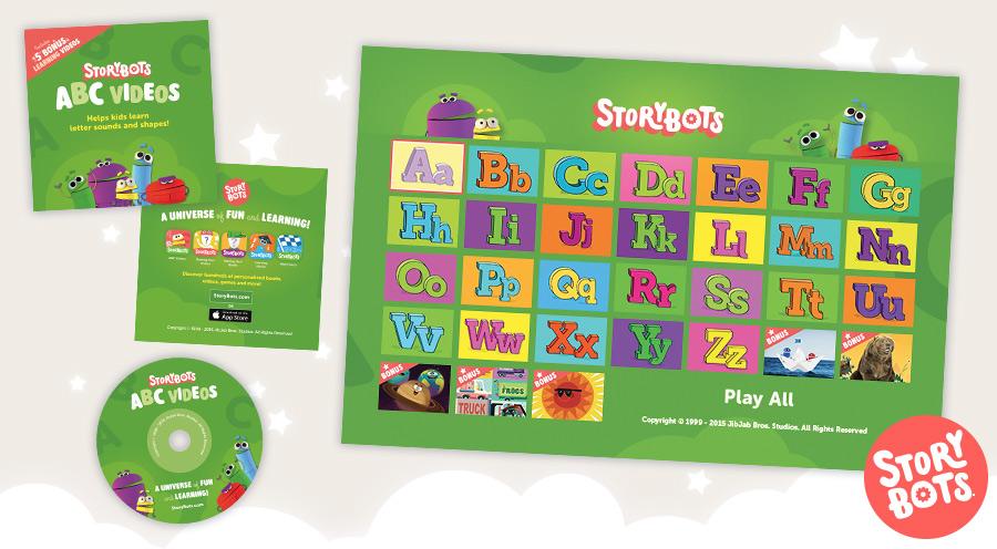 StoryBots - DVD Graphic Designer- (©1999–2014 JibJab Media Inc.)- 2015