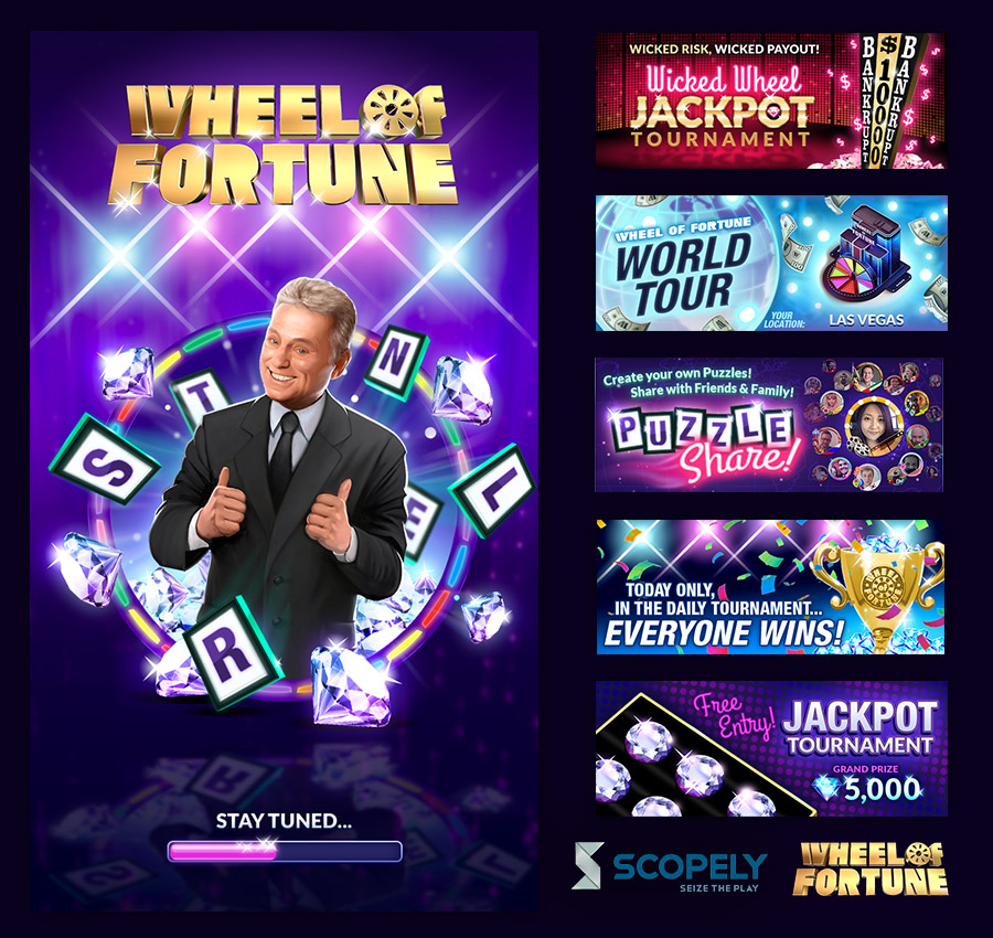 Scopely -  Wheel of Fortune: Free Play  - UI / UX, Graphic Designer (Scopely, Inc.) - 2015