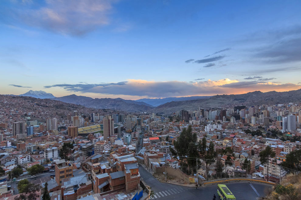 Super wide shot of the old city.