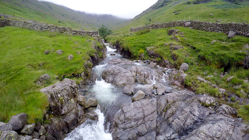 A brook in Scafell Pike, England