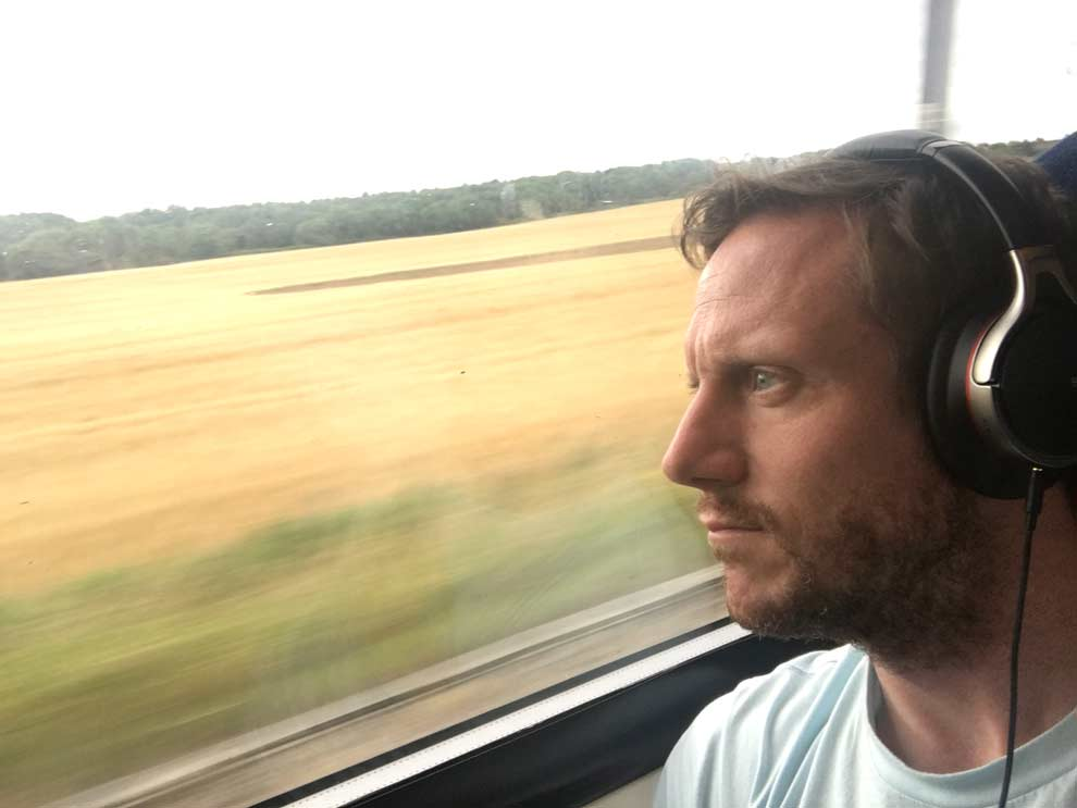 The train to Edinburgh, Scotland