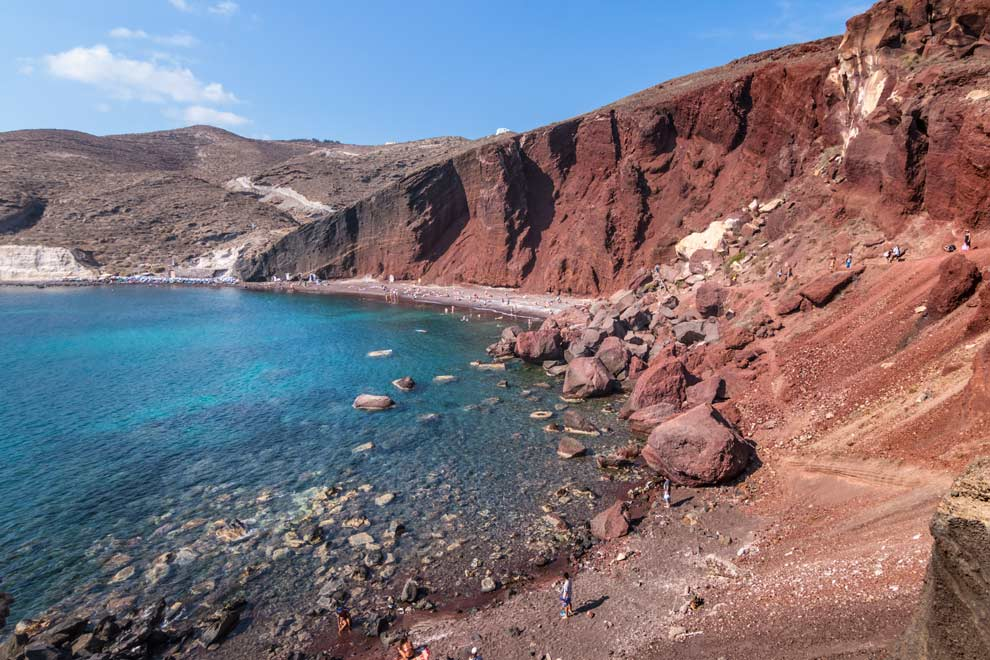 Red Beach, Santorini, Greece, September 2016