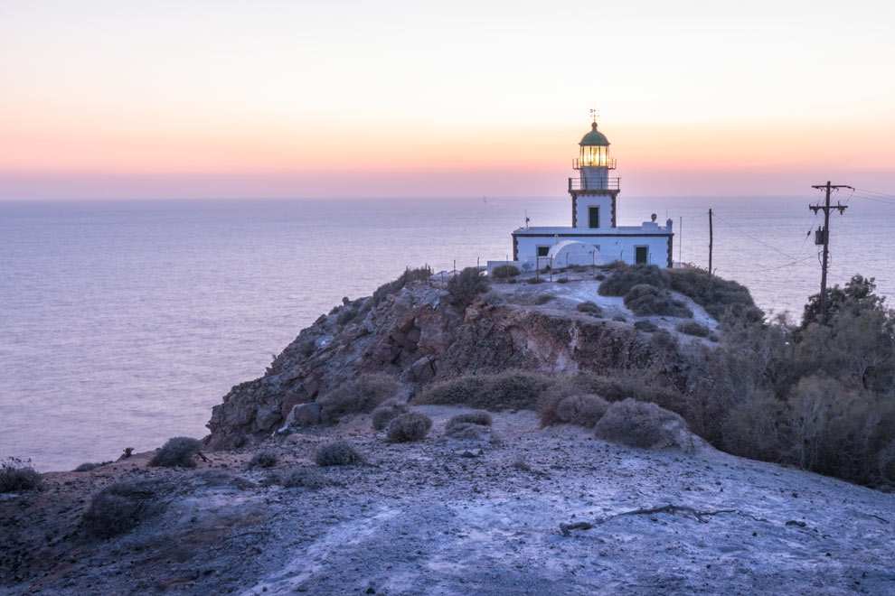 Akrotiri Lighthouse, Santorini, Greece, September 2016