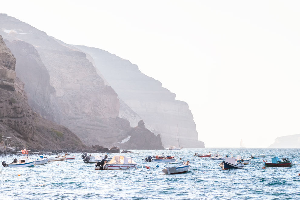 Caldera Beach, Akrotiri, Santorini, Greece, September 2016