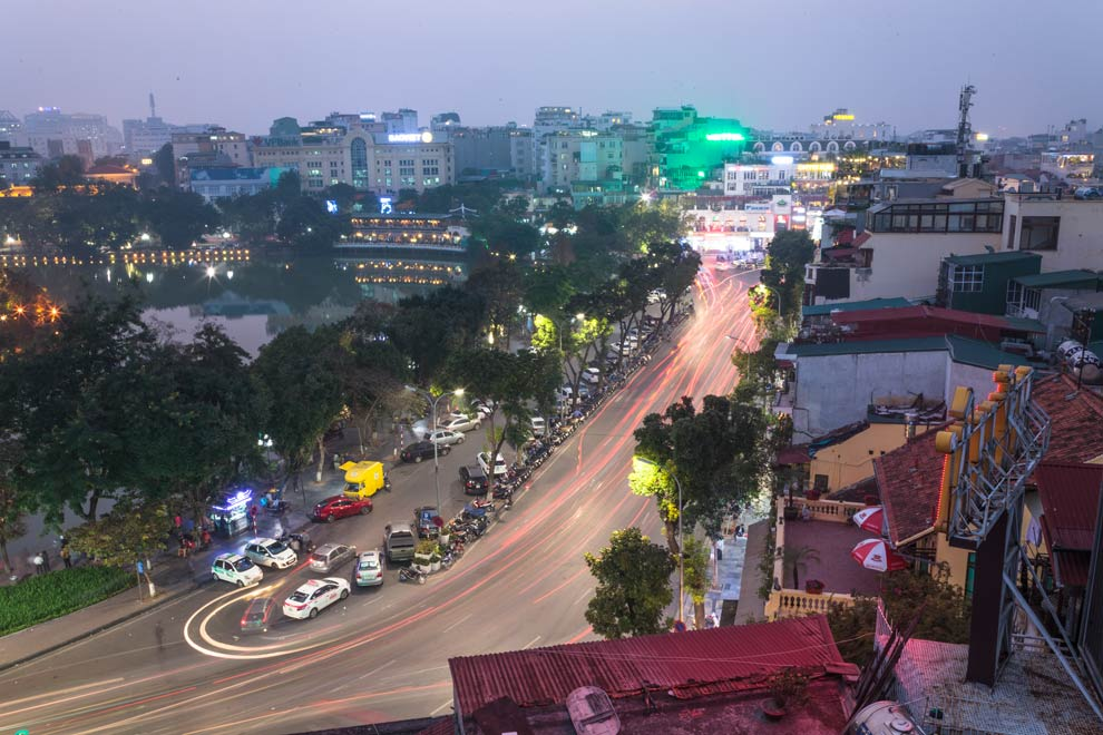 Hoàn Kiếm Lake, Hanoi, Vietnam, February 2017
