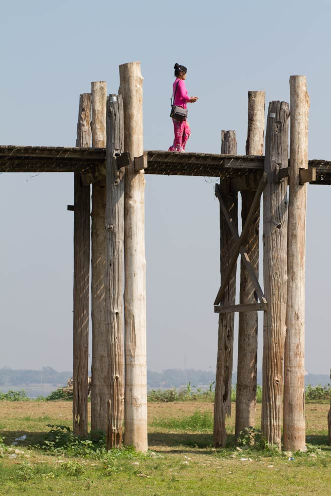 U Bein Bridge, Amarapura, Myanmar, January 2017