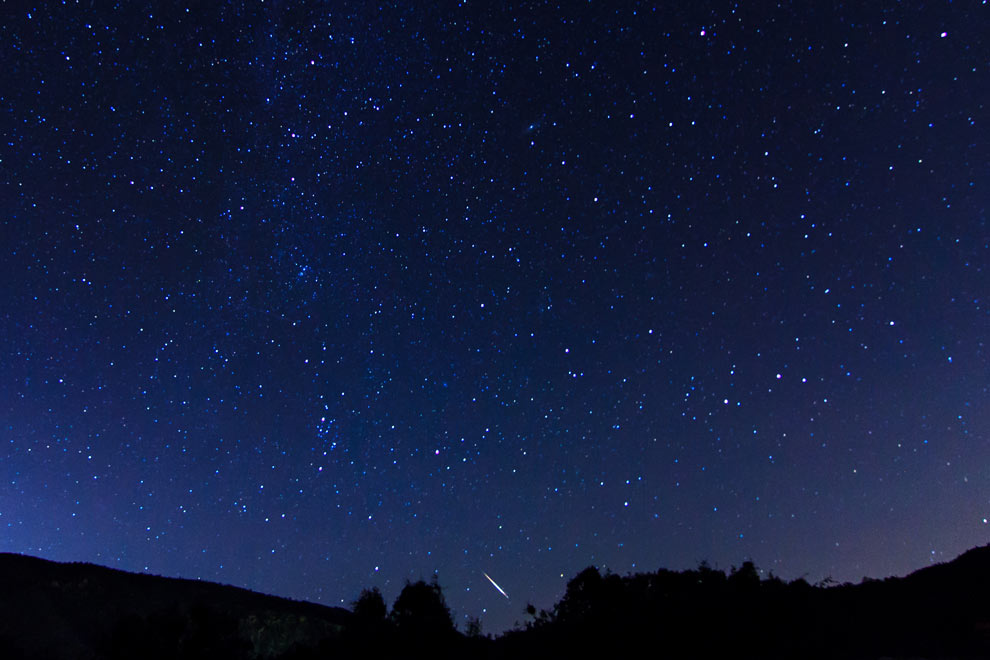 Perseids Meteor Shower, Frazier Park, California, August 2015