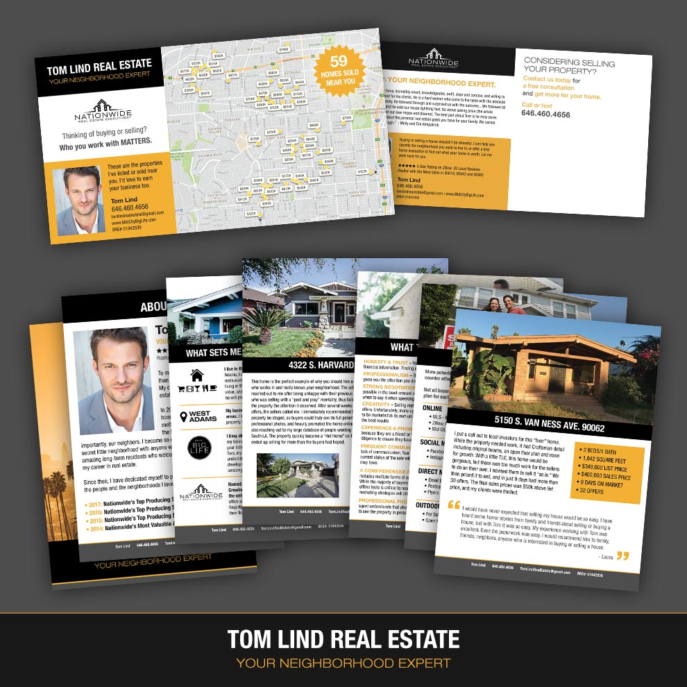 Tom Lind Real Estate - Graphic Designer, Postcard & Seller's Packet - 2017