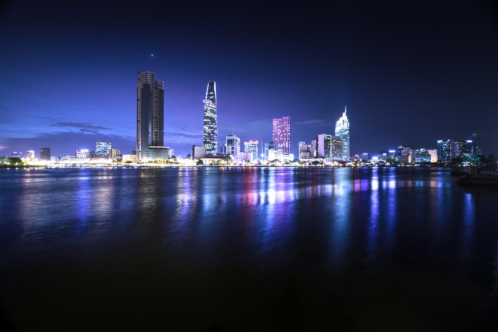 * My award winning photo of the Saigon Skyline!  Check out  Bonsai Cruises  to book an incredible night!