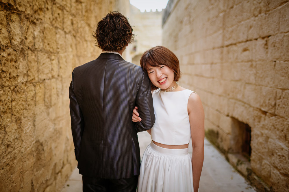 Our next location was Mdina, one of my favourite spots for couples and Lifestyle shoots.