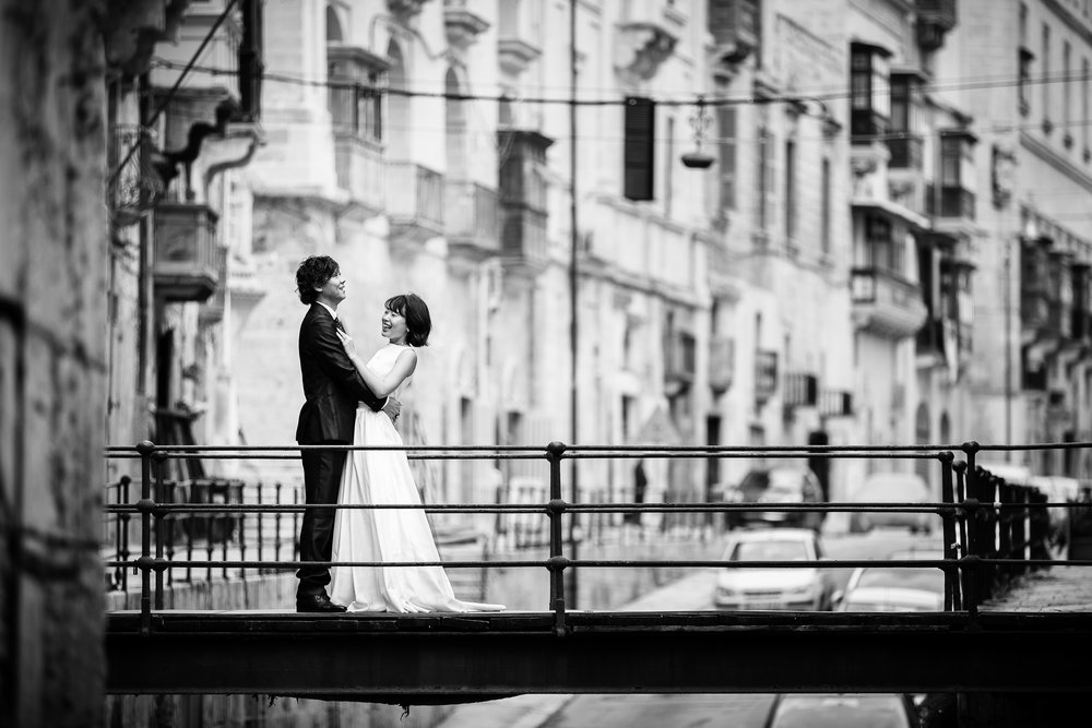 Some of my favourite shots from Yusei and Nau's Pre -Wedding shoot. We started in Valletta which has so many options for nice locations.