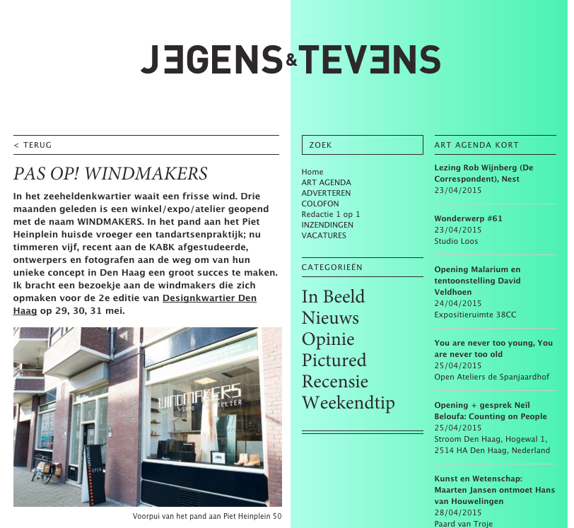 Jegens&Tevens | Pas op! Windmakers