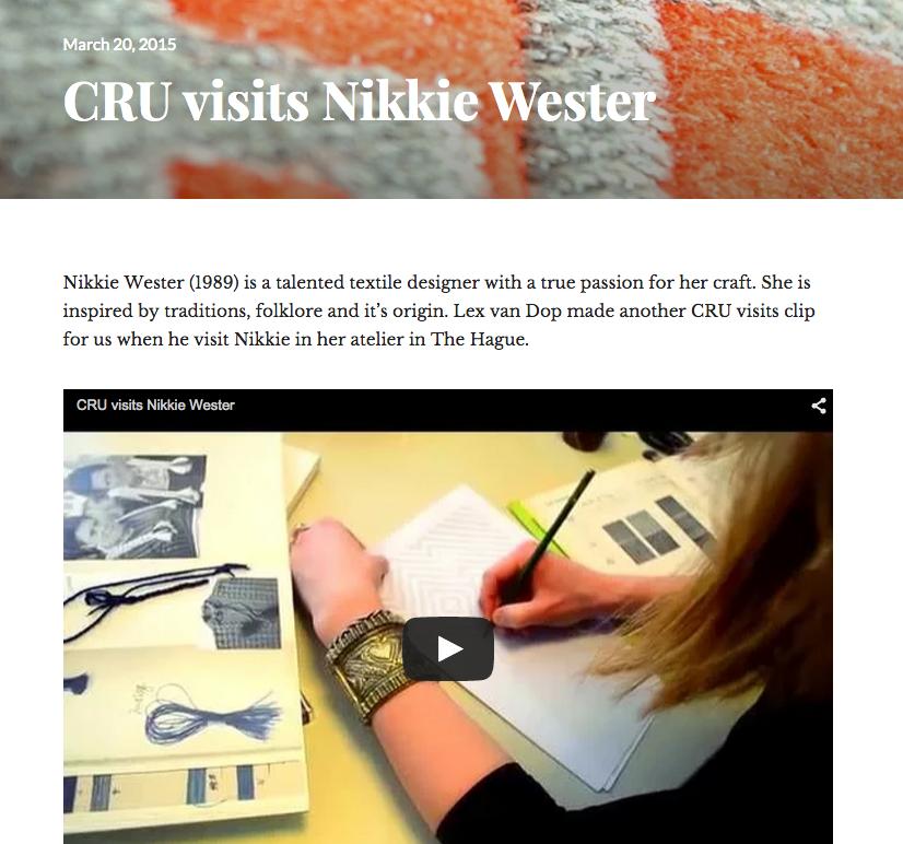CRU-Society | CRU visits Nikkie Wester