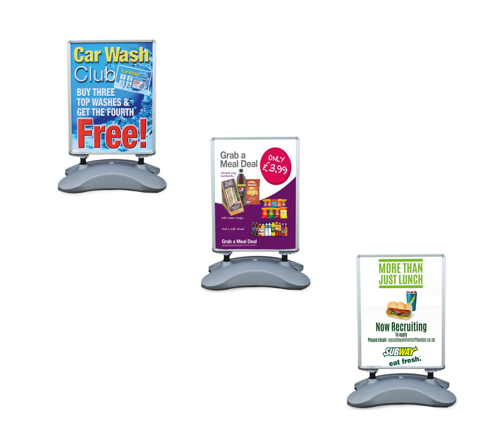 Banner, vinyl roadside displays and PVC posters