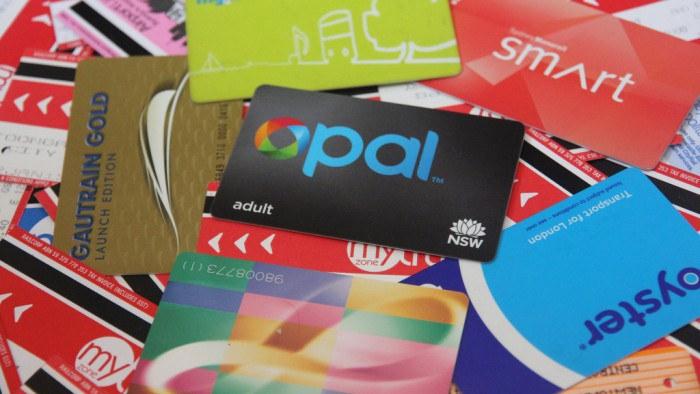 The Opal Card amongst other public transport ticketing cards. (Photo: Beau Giles)