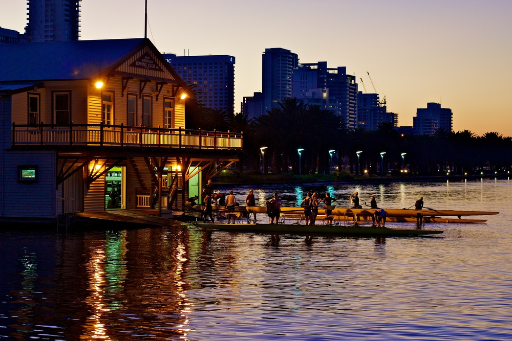 Lean to Row courses run from October to February at the WA Rowing Club