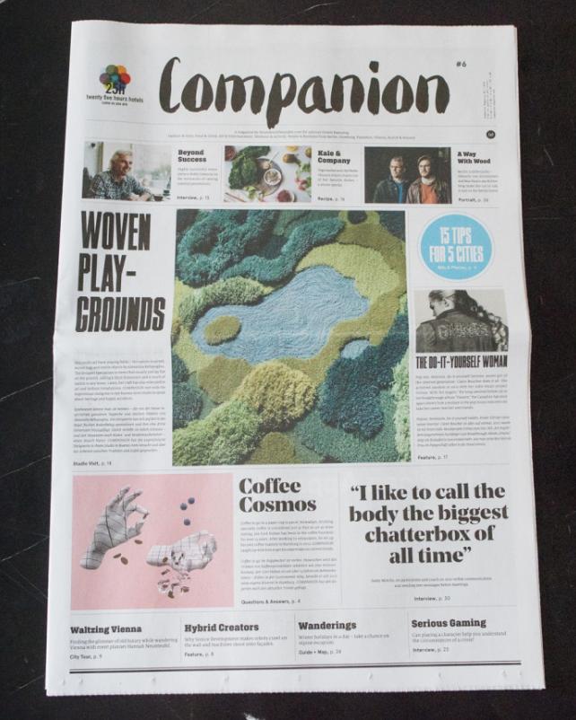 Companion Magazine #6 , Freunde von Freunden for 25hours, 2015   Translation