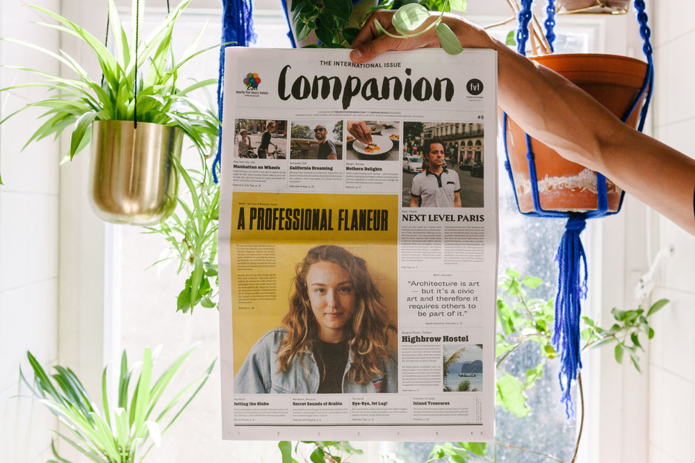 Companion Magazine #8 , Freunde von Freunden for 25hours, 2016   Translation