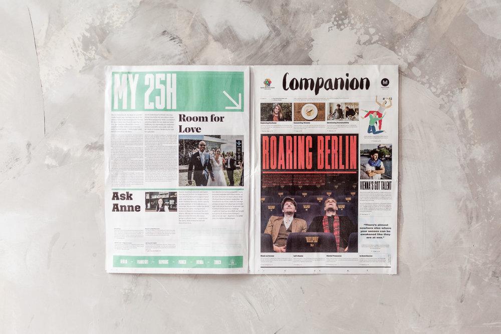 Companion Magazine #12 , Freunde von Freunden for 25hours, 2018   Translation