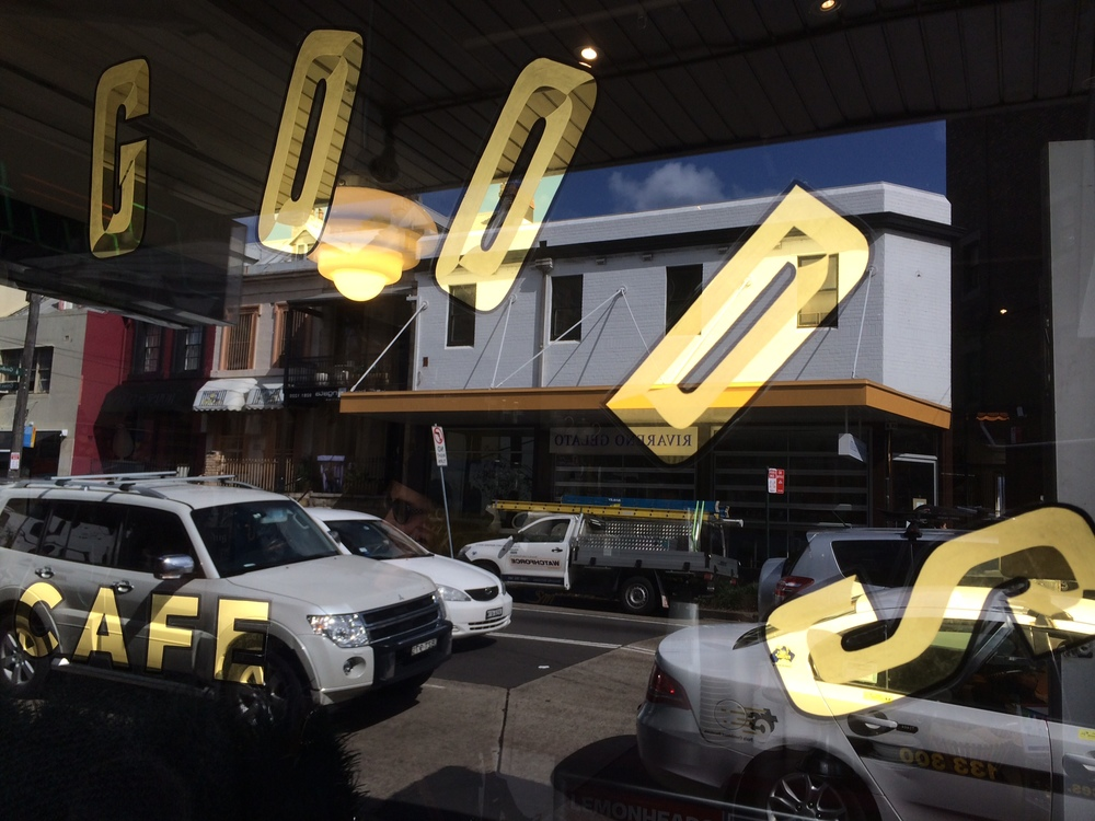 the goods cafe gold leaf hand painted sign.JPG