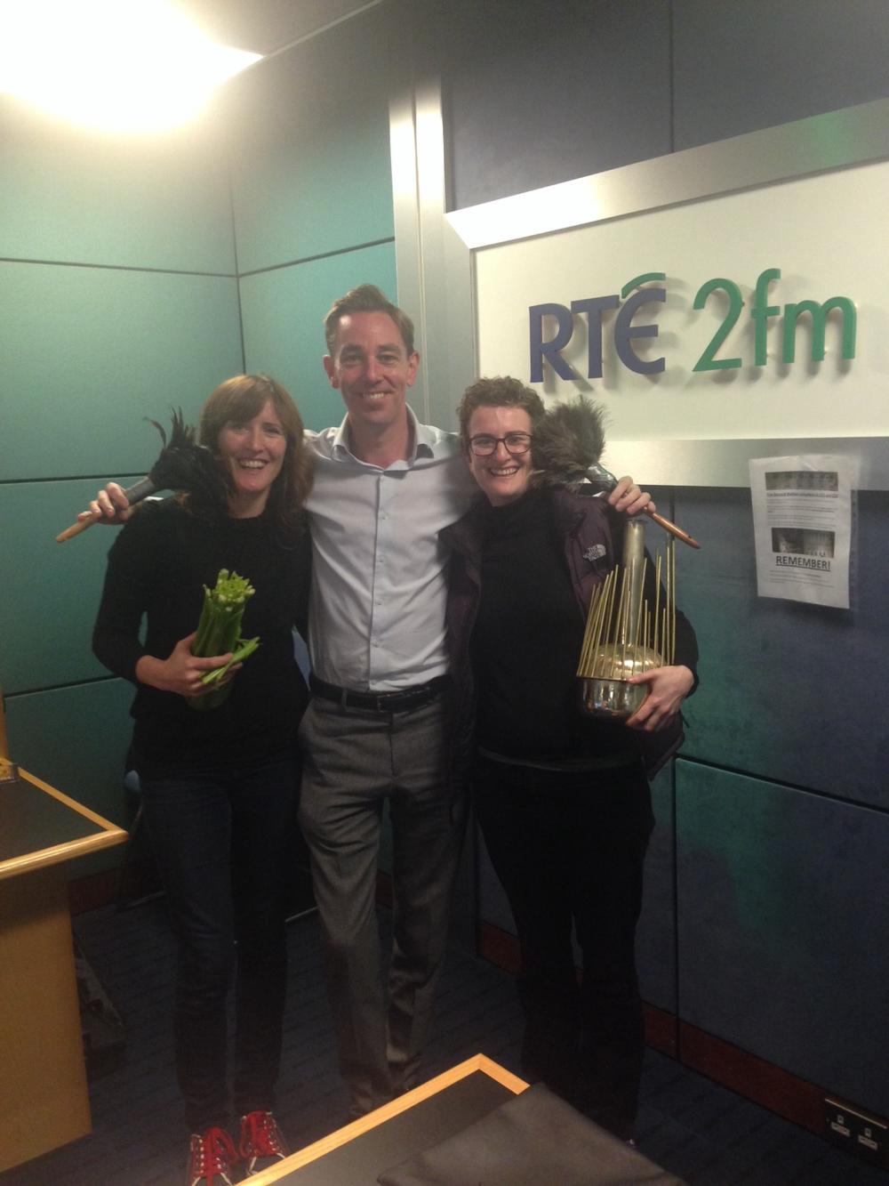 Caoimhe Doyle, Ryan Tubridy and Jean McGrathonTubridy on RTE 2FM