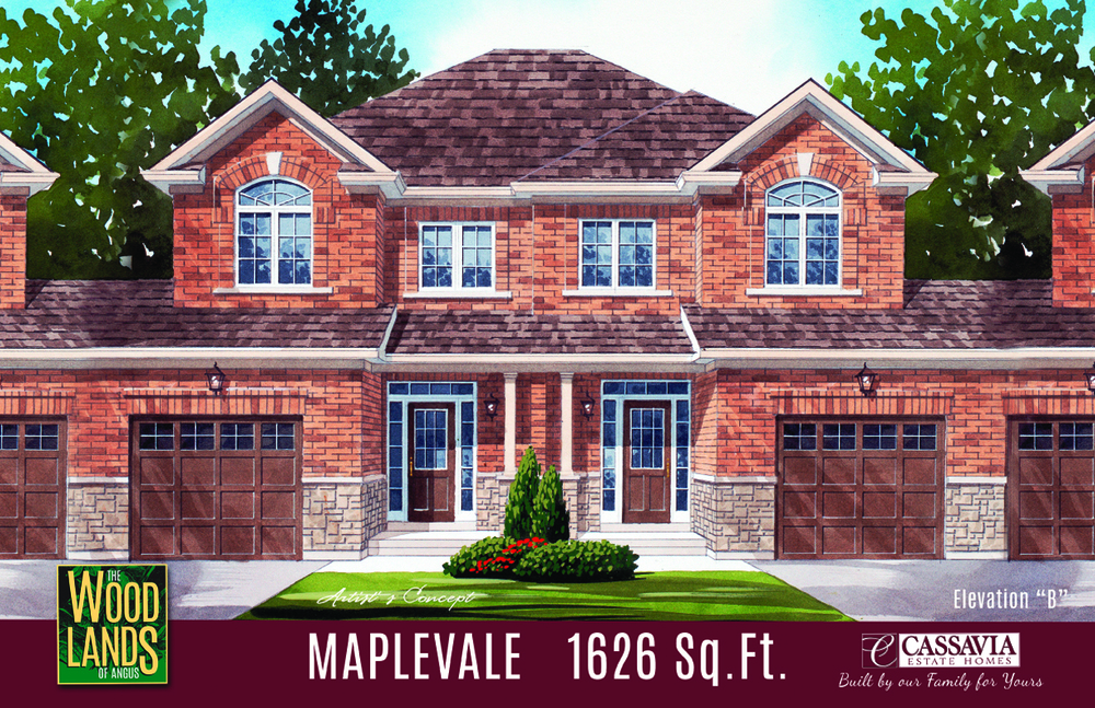 Maplevale Elev. B 1626 Sq. Ft..