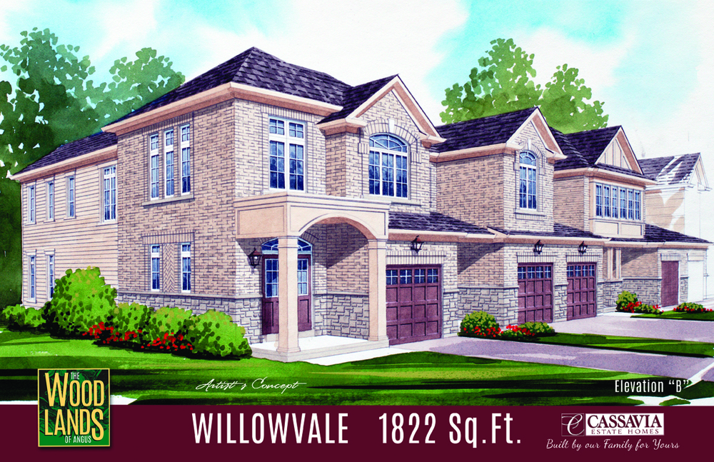 Willowvale Elev. B 1822 Sq. Ft.  .