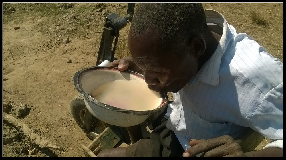 Notice the color of the previous drinking water in the village of Sibalwa. This is the standard drinking water of hundreds of villages in Zambia who do not have access to clean drinking water.