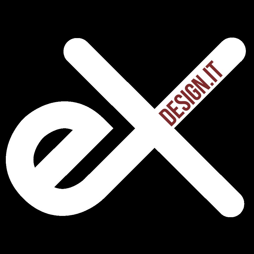 logo ex design bianco