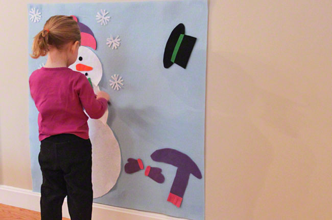 Free pattern and tutorial to make your own indoor snowman. It is perfect for those snowy days when it's just too cold to go outside and make a real snowman. It's also perfect for kids in warm climates to have a little winter fun. Great for Frozen parties! From Two More Minutes