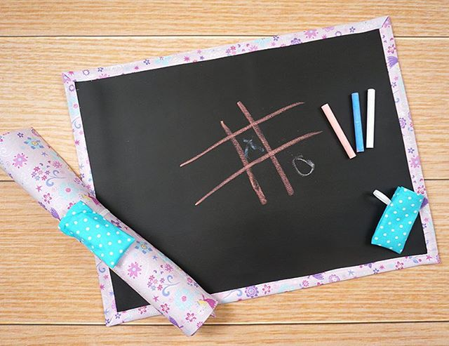 Traveling this week? Roll up chalkboard mats are great to take with you! #chalkboard #chalkboardmat #travelingwithkids #etsy #etsyshop #etsykids #giftsforkids #handmade #buyhandmade