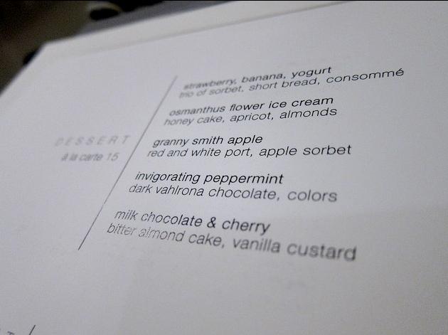 TRU menu - Detail