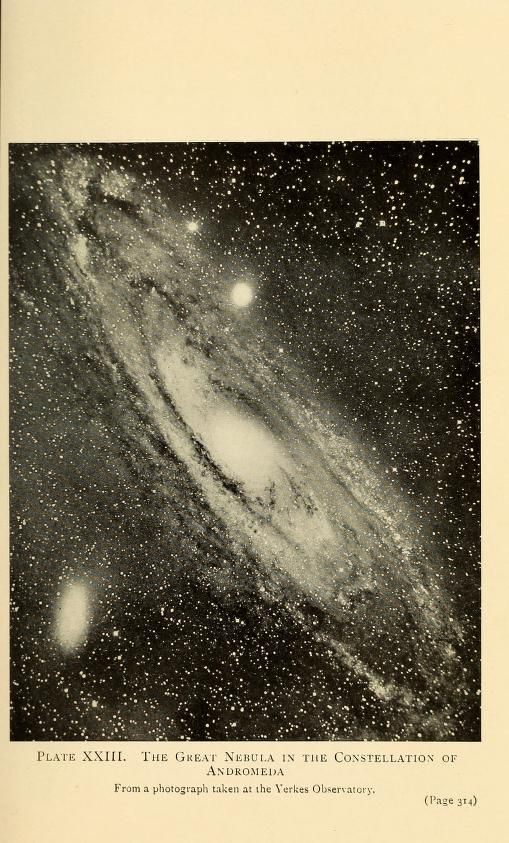 L'OBSERVATOIRE –– The Great Nebula in the constellation of Andromeda. Taken at the Yerkes Observatory.
