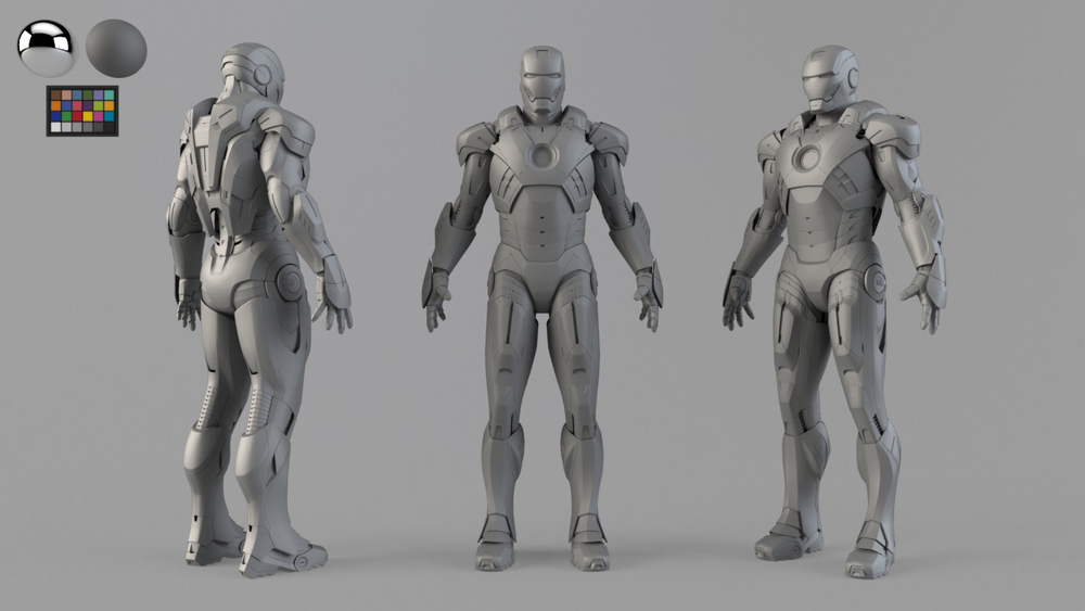 VFX character. Model checker.