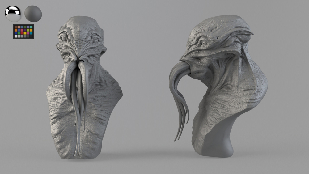 VFX creature. Model checker. Modelled by Dominic Qwek.