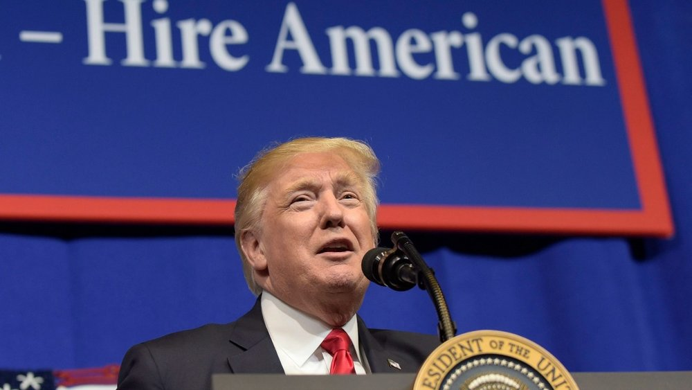 U.S. President Donald Trump criticized Canada's dairy industry in a speech at a Wisconsin factory on Tuesday. (Susan Walsh/AP)