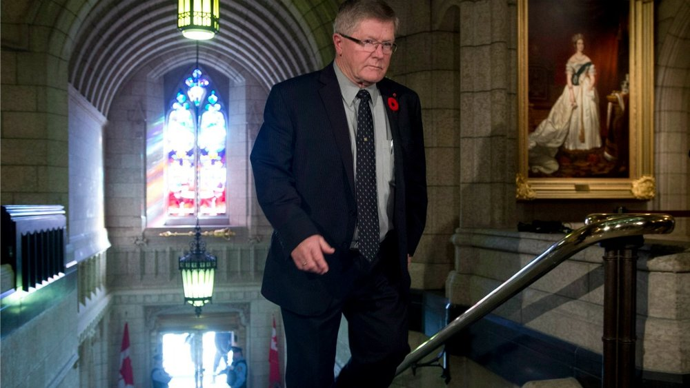 Conservative Senator Don Plett has been an outspoken critic of the Liberals' transgender rights bill, which has its third reading Tuesday. (Adrian Wylde/CP)