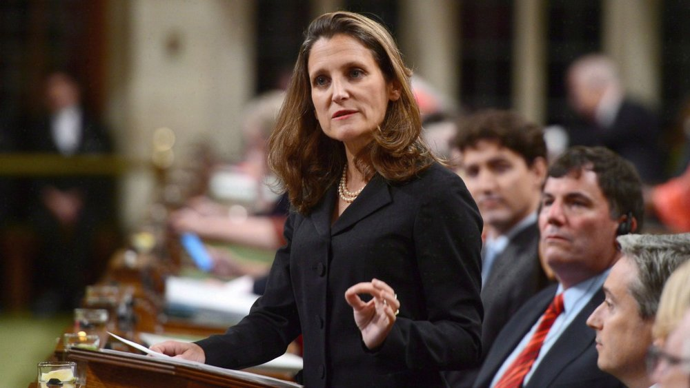 Foreign Affairs Minister Chrystia Freeland laid out Canada's priorities for the new NAFTA this week. (Sean Kilpatrick/CP)