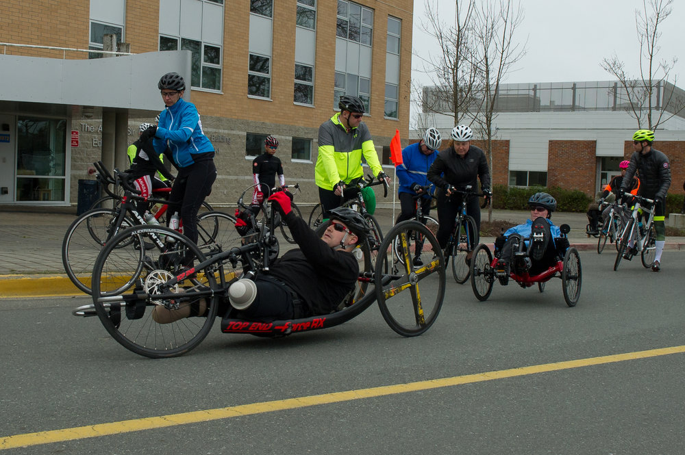 Trauner is competing in both rowing and cycling events. (Canadian Forces Morale and Welfare Services)