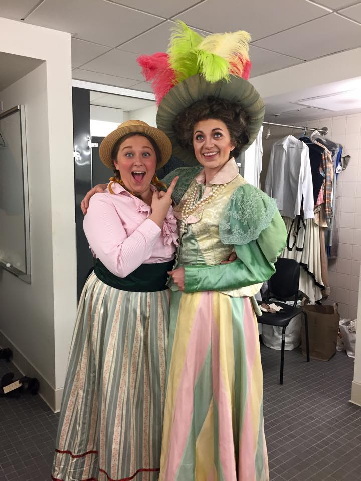 Backstage Albert Herring, SFCM, May 2015
