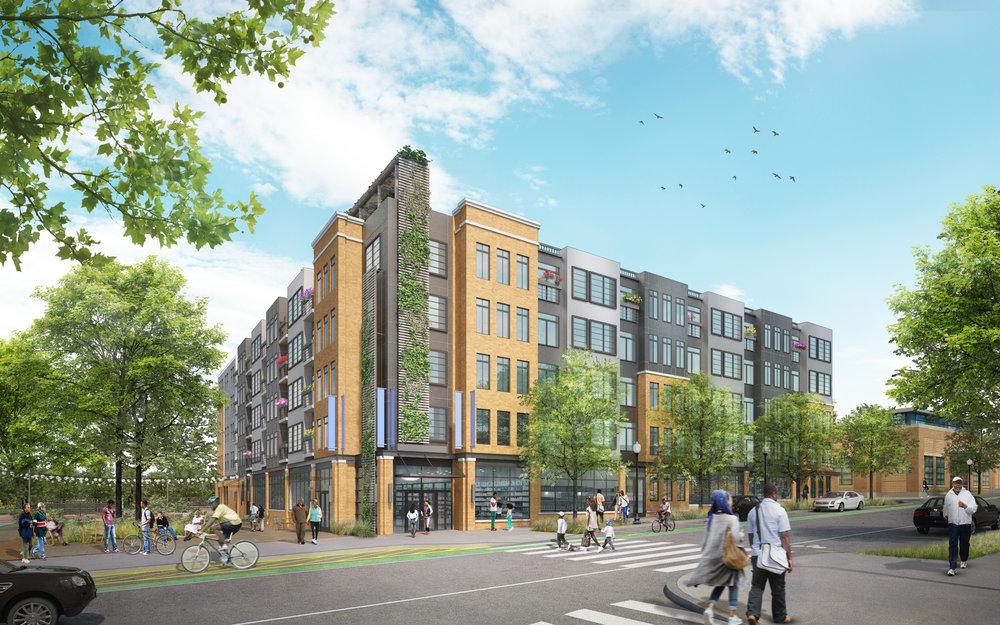 Barry Farm Apartments  (in Sketch Plan Application phase) • 108 apartments •Ground floor retail •Anacostia, SE Washington, DC